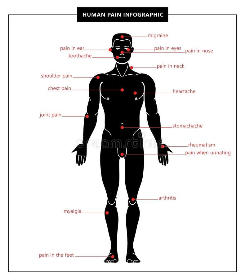 Istoty ludzkiej bólowy i anatomiczny ciało zdjęcie royalty free