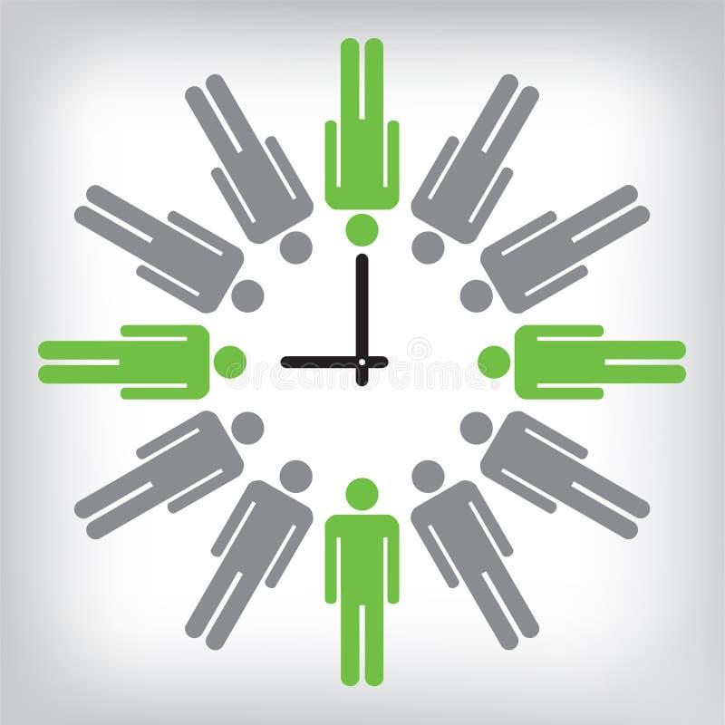 Istoty ludzkiej ilustracja zegarowa konceptualna zdjęcia royalty free