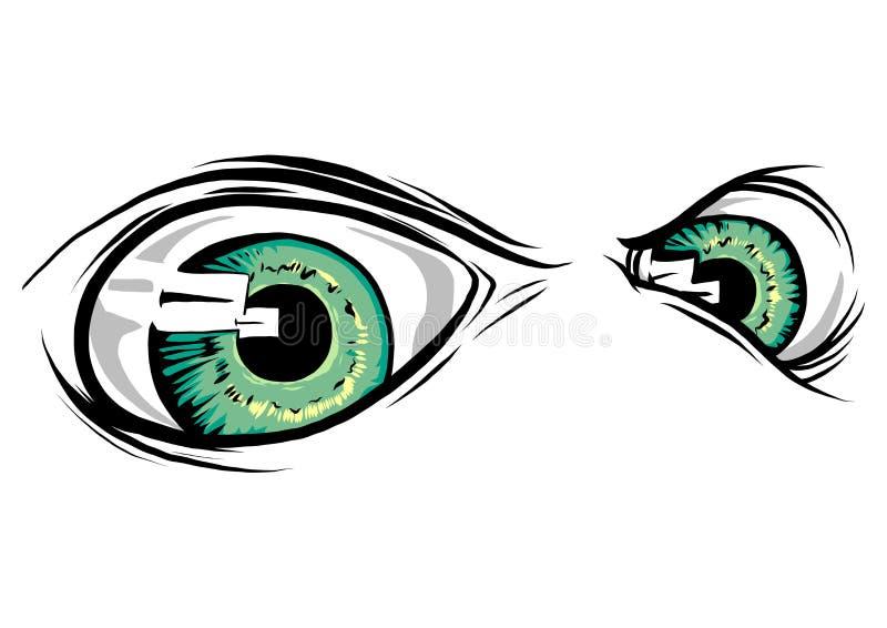 Istoty zwierzęcia oczy Wektorowy ilustracyjny projekt fotografia stock