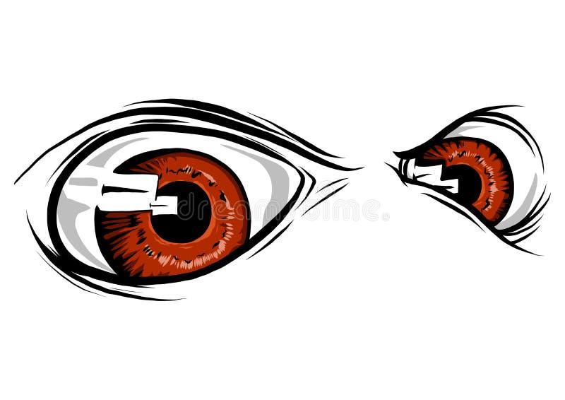 Istoty zwierzęcia oczy Wektorowy ilustracyjny projekt zdjęcie stock