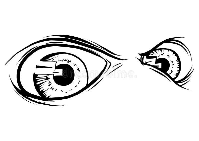 Istoty zwierzęcia oczy Wektorowy ilustracyjny projekt zdjęcia stock