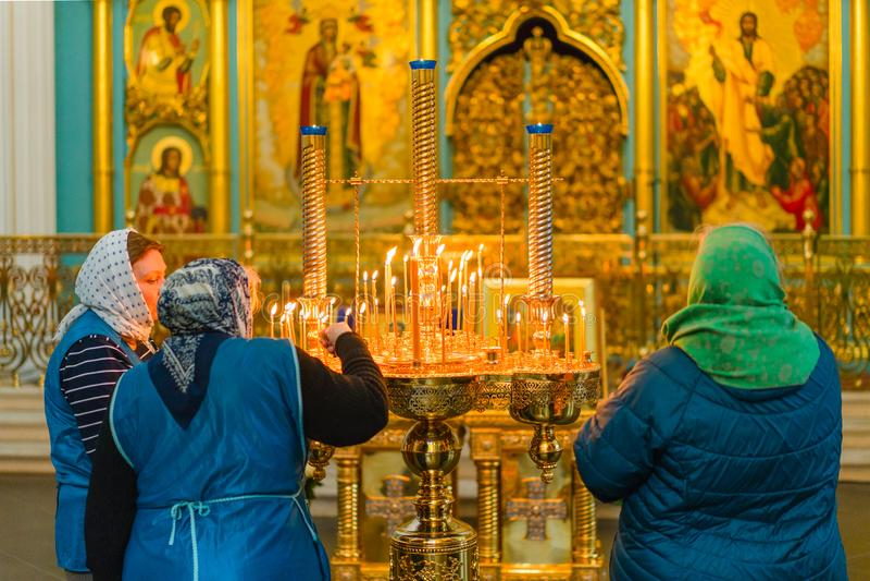 ISTRA, RÚSSIA - 23 de março de 2019: O monastério novo do Jerusalém imagem de stock