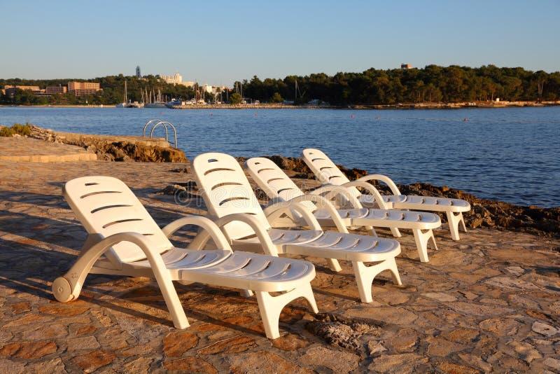 Istria海岸,克罗地亚 免版税库存照片