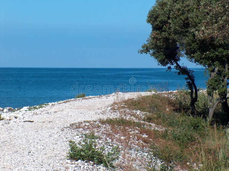 istria пляжа стоковая фотография