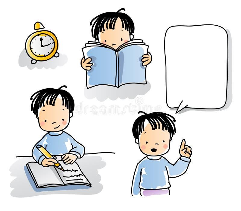 Istruisca i bambini illustrazione di stock