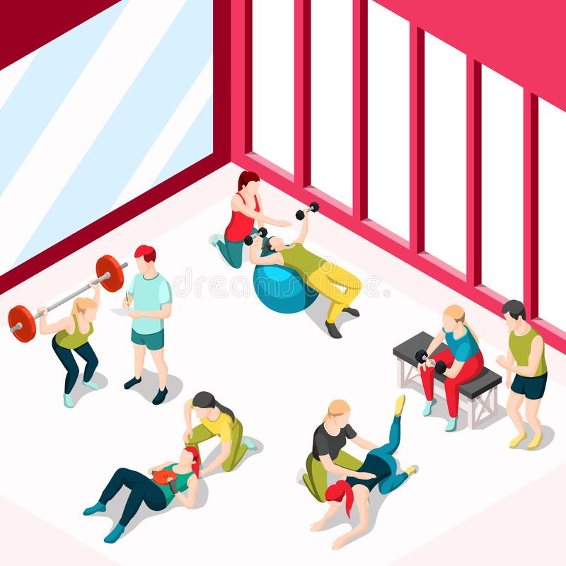 Istruttore personale Design Concept di sport illustrazione vettoriale