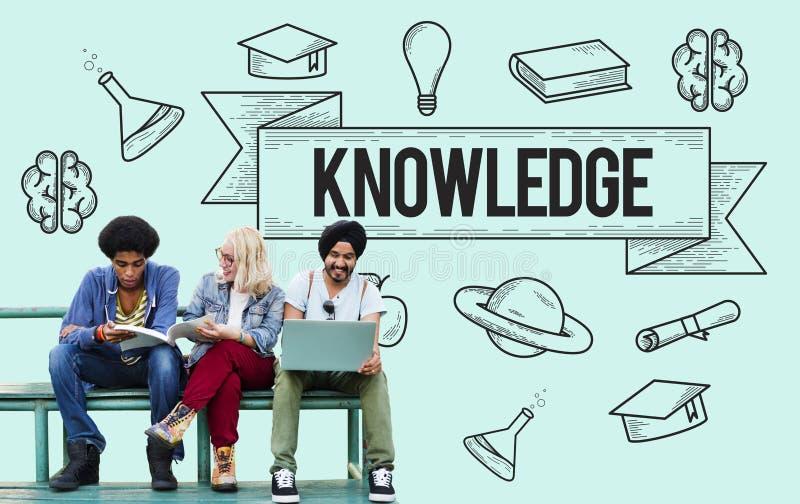 Istruzione che impara concetto di conoscenza di studio di idee fotografie stock libere da diritti
