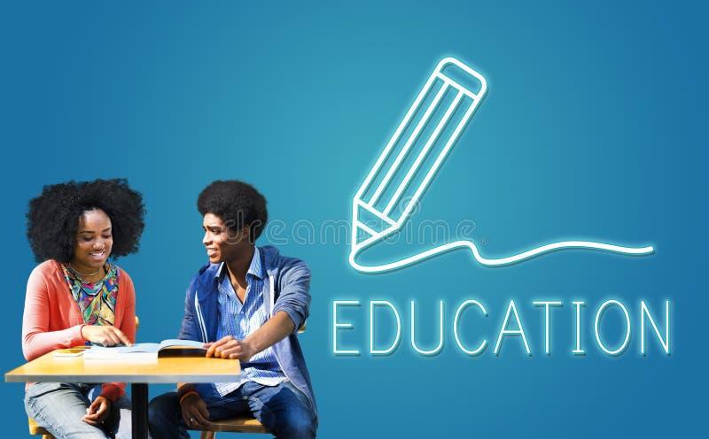 Istruzione che impara studiando concetto del grafico di conoscenza fotografie stock libere da diritti
