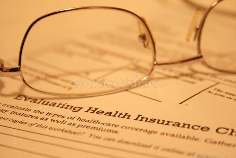 Istruzione di assicurazione contro le malattie immagini stock