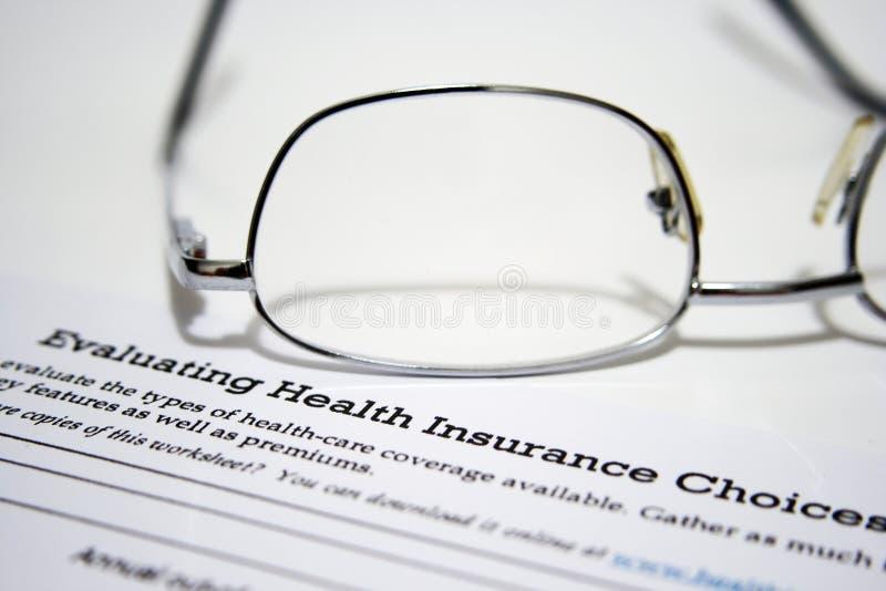 Istruzione di assicurazione contro le malattie fotografia stock libera da diritti