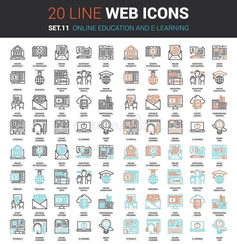 Istruzione e e-learning online illustrazione di stock