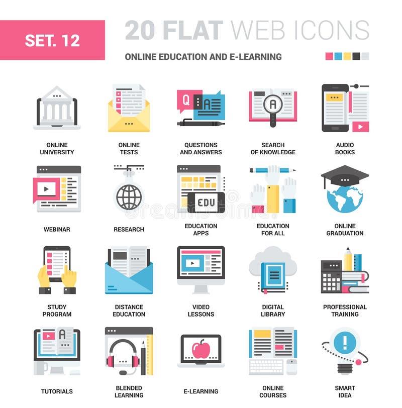 Istruzione e e-learning online illustrazione vettoriale