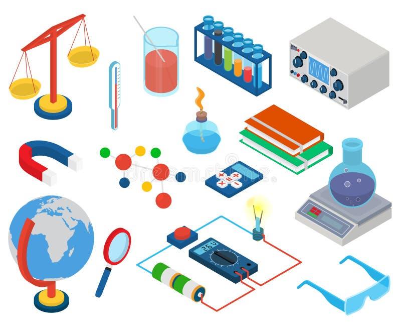 Istruzione e scuola, laboratorio di ricerca di scienza illustrazione di stock
