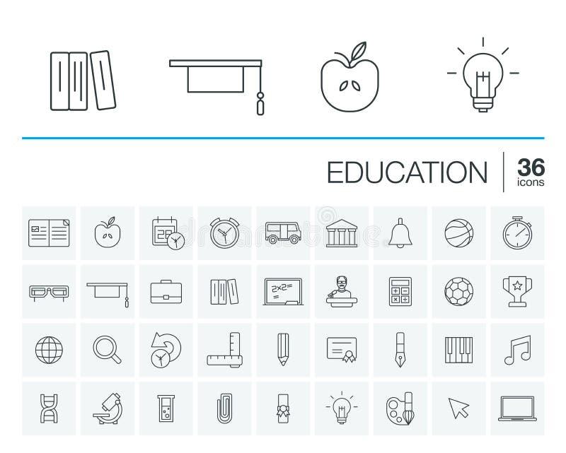 Istruzione ed imparare le icone di vettore royalty illustrazione gratis