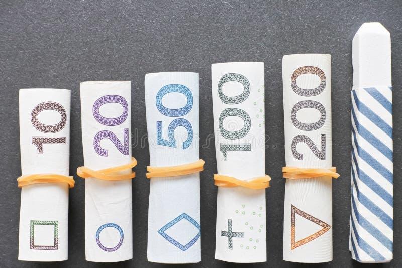 Istruzione finanziaria polacca immagine stock