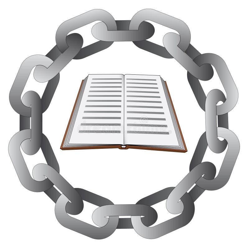 Istruzione nella forte catena d'acciaio del cerchio  illustrazione vettoriale