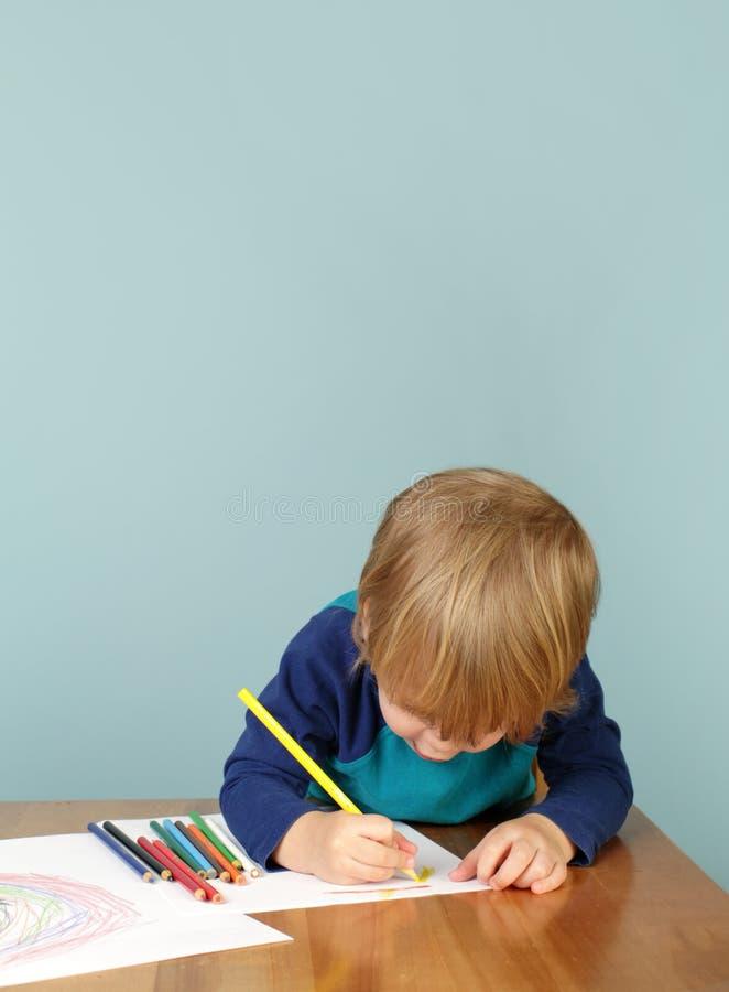 Istruzione prescolastica: Disegno del bambino immagini stock