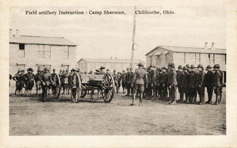 Istruzioni dell'artiglieria di campo fotografie stock