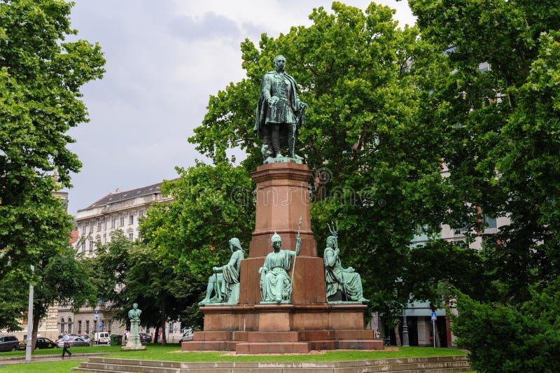 Istvan Szechenyi statua obraz royalty free