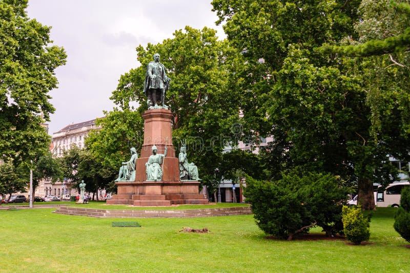 Istvan Szechenyi statua obraz stock