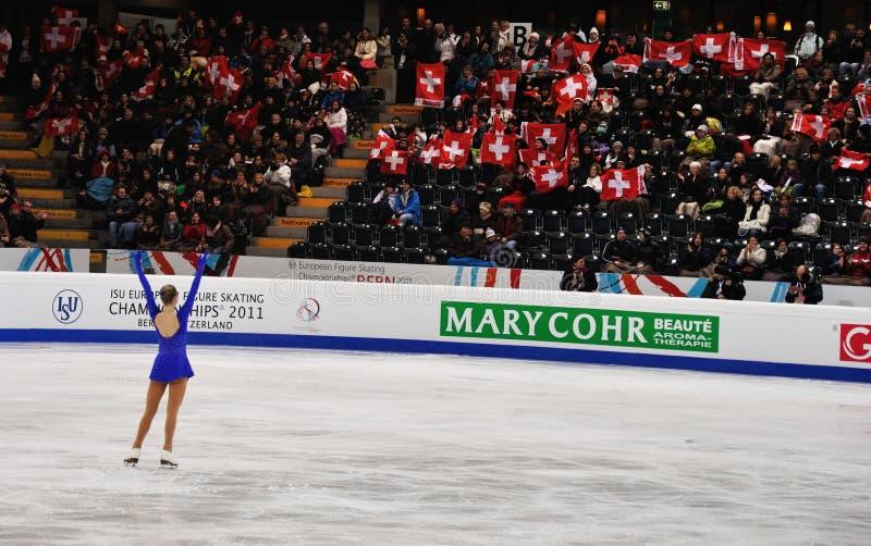 ISU-kunstschaatsen Europese champ 2011 royalty-vrije stock afbeeldingen