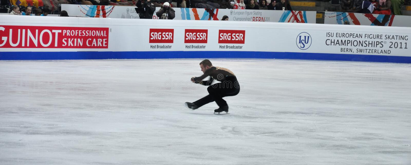 ISU-kunstschaatsen Europese champ 2011 stock afbeelding