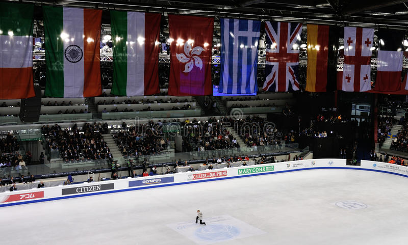 ISU-kunstschaatsen Europese champ 2010 stock fotografie