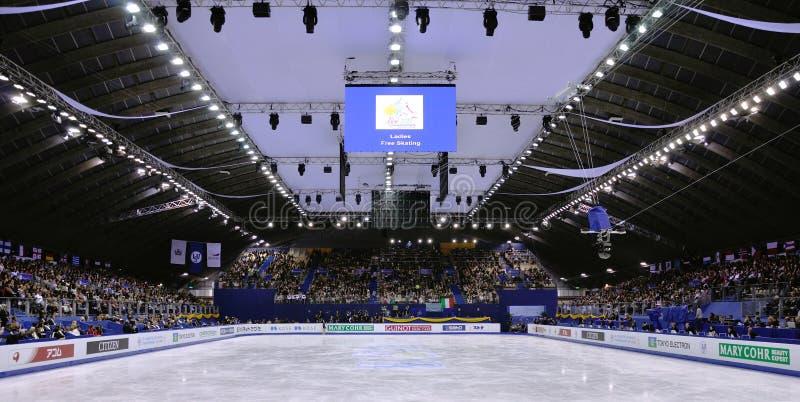 ISU-kunstschaatsenwereld champ 2012 stock foto's