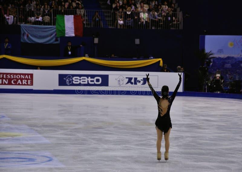 ISU-kunstschaatsenwereld champ 2012 stock foto