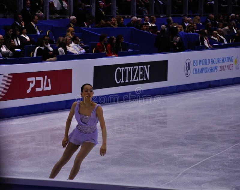 ISU-kunstschaatsenwereld champ 2012 Mao royalty-vrije stock foto's