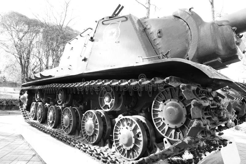 ISU-152 - Unidad de artillería automotora pesada soviética imagenes de archivo