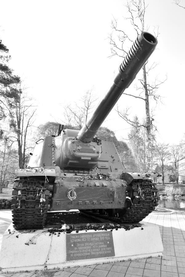 ISU-152 - Unidad de artillería automotora pesada soviética fotos de archivo libres de regalías