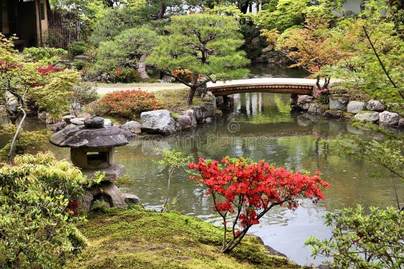 Isuien Garden, Nara stock images