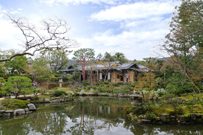 Isuien Garden of Nara royalty free stock photography