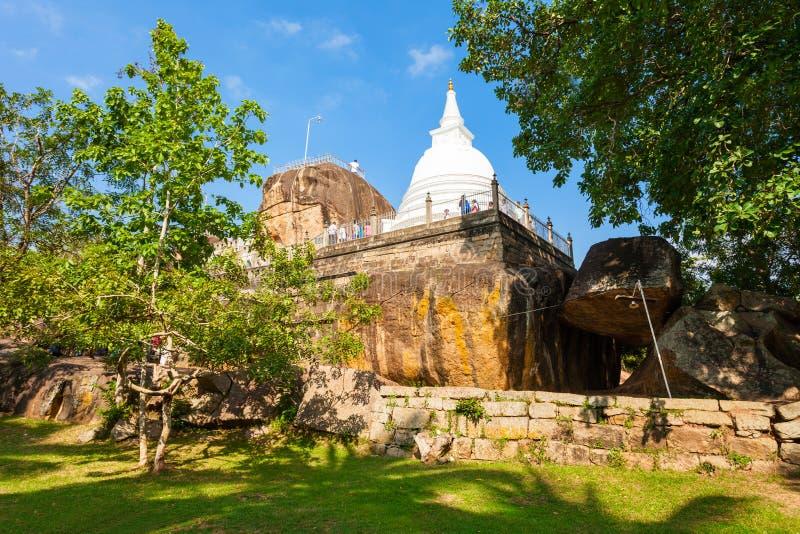 Isurumuniya佛教寺庙,阿努拉德普勒 库存照片