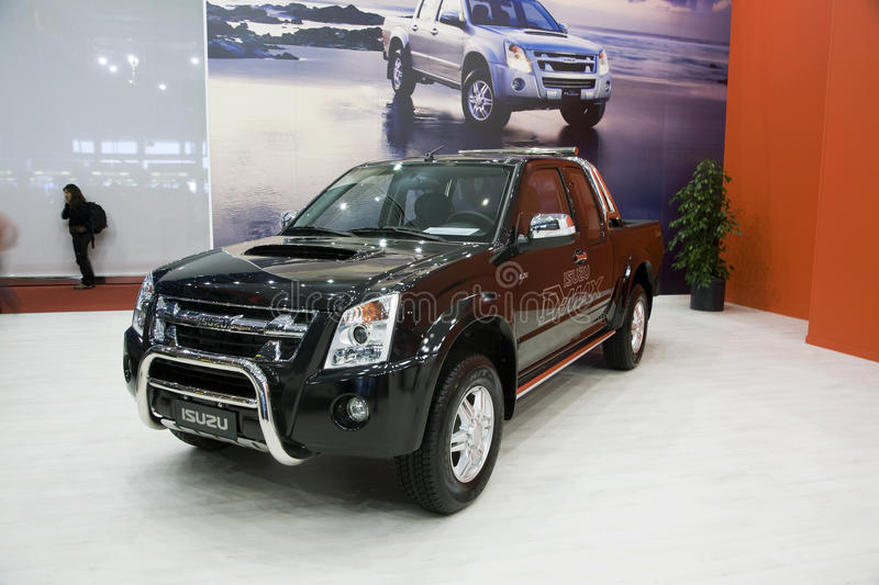 Isuzu D-Max Pickup. At the 2011 edition of the Geneva Motorshow. Photo taken on: March 04th, 2011 royalty free stock photography