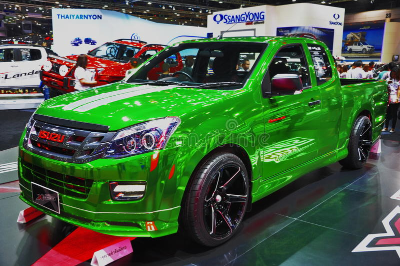 2015 Isuzu D-Max X-Series at the 36th Bangkok International Motor Show stock photography