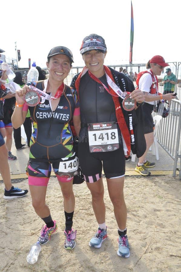 Isuzu Ironman África do Sul - campeonato mundial em Port Elizabeth em África do Sul imagens de stock