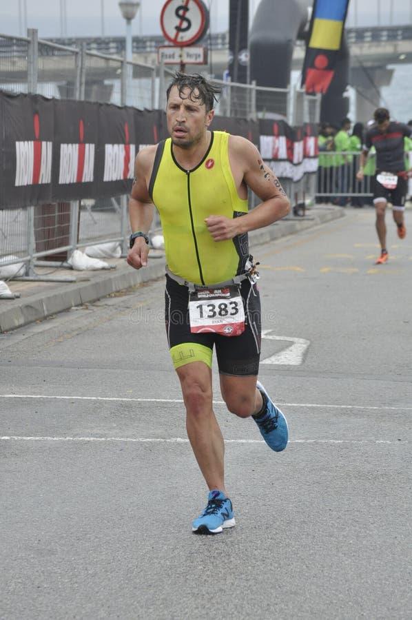 Isuzu ironman 70 3 wereldkampioenschap in Zuid-Afrika stock foto's