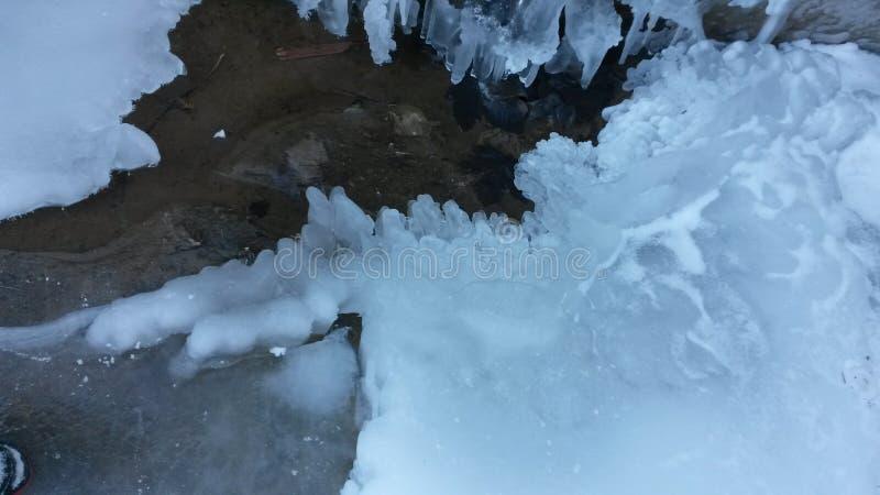 Isvattenfall arkivfoton