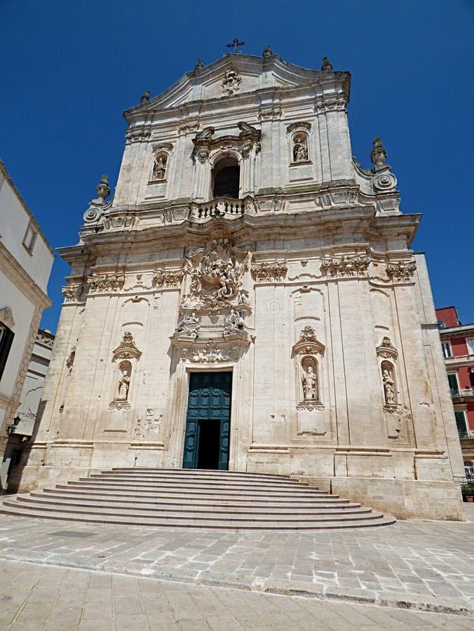 Itália, Apulia, Taranto, franca de Martina, vista da basílica de St Martin no quadrado de Plebiscito imagem de stock