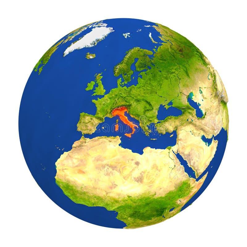 Itália destacou na terra ilustração royalty free