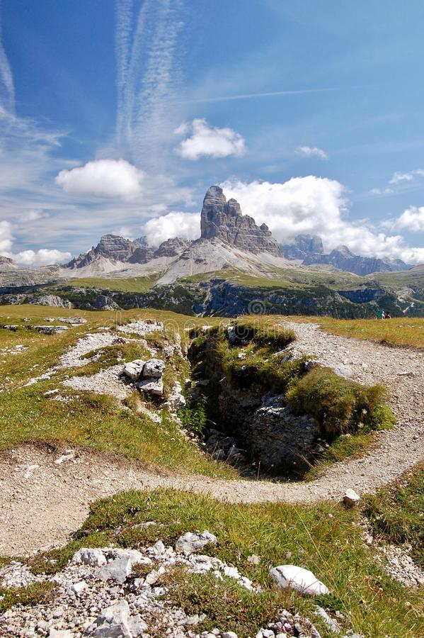 Itália, dolomite, Monte-piana imagens de stock royalty free