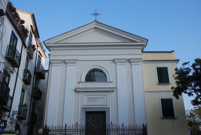 Itália: Opinião Saint Lucy De Judaica Church, em Salerno foto de stock