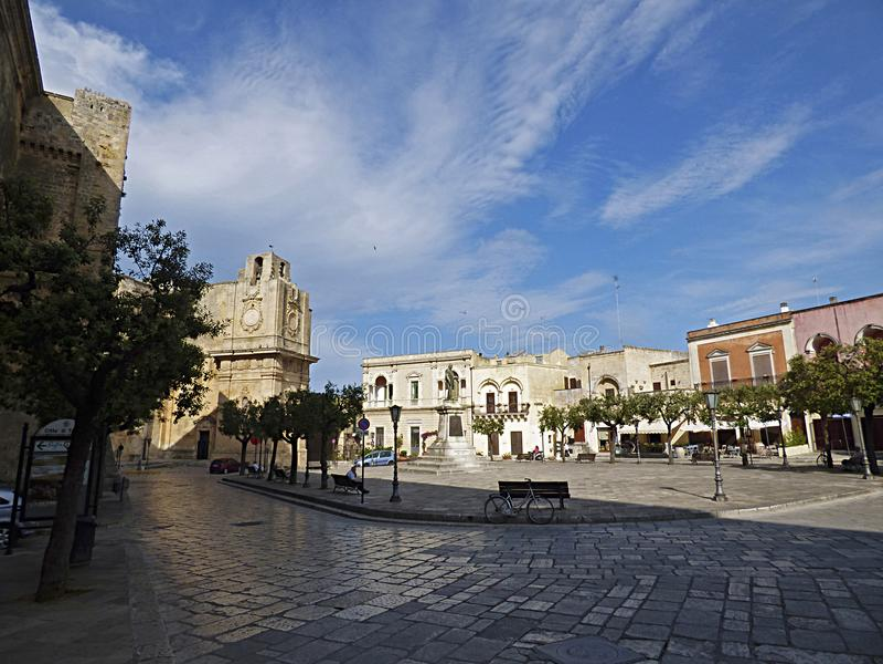 Itália Puglia, Lecce, Tricase, o quadrado principal fotografia de stock