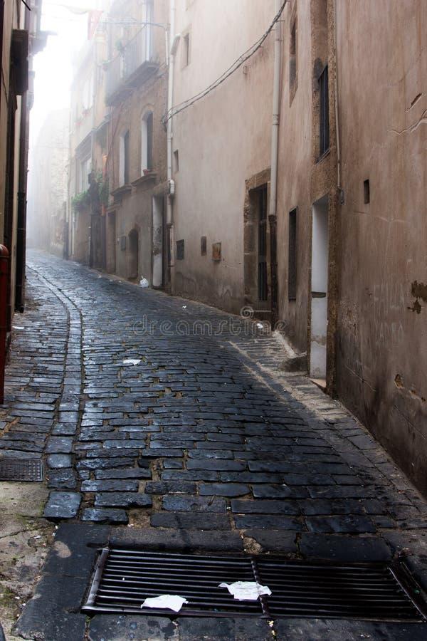 Itália Sicília Caltagirone - a aleia típica imagens de stock