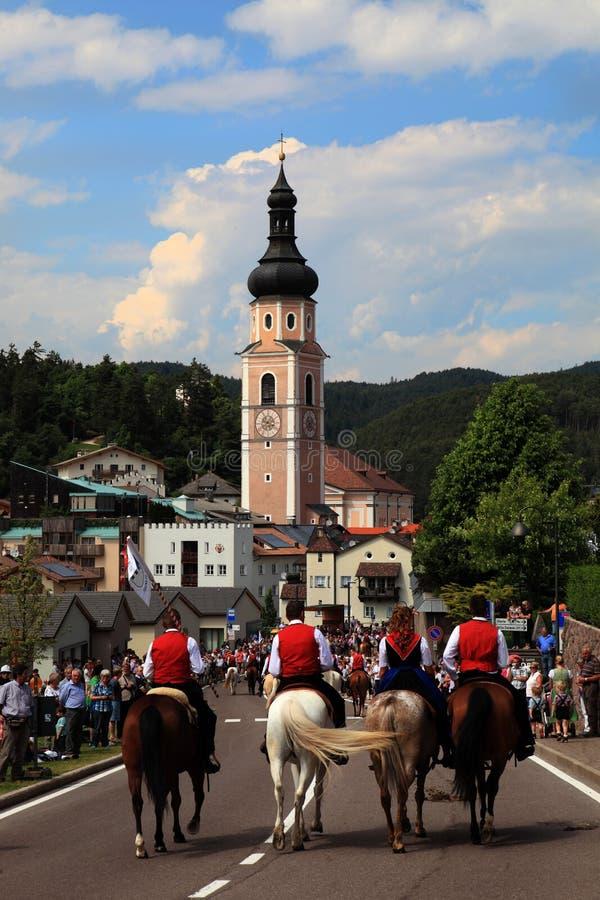 Itália, Trentino Alto Adige, Castelrotto foto de stock royalty free