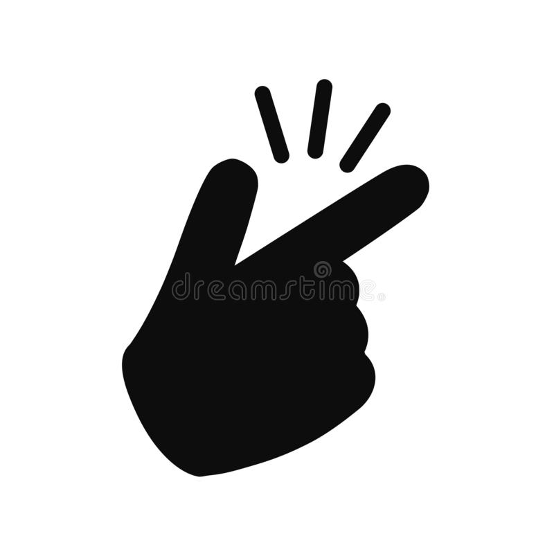 It's simple - finger snap icon in flat style. Easy icon. Finger snapping click flick hand gesture - for stock. It's simple - finger snap icon in royalty free illustration