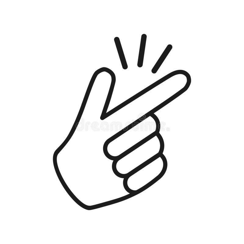 It's simple - finger snap icon in flat style. Easy icon. Finger snapping click flick hand gesture - vector vector illustration