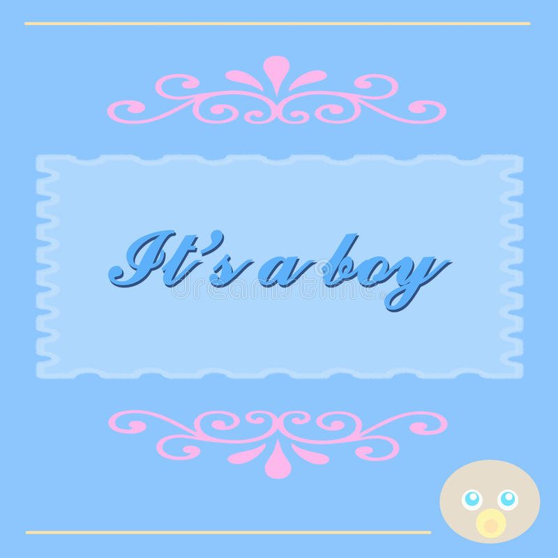 Free It S A Baby Boy Card Royalty Free Stock Photos - 9844658